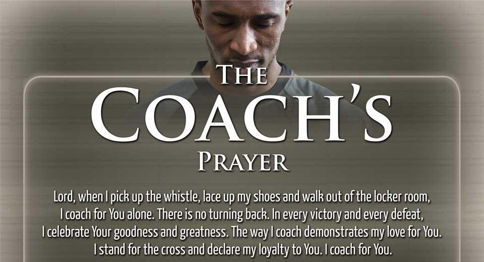 Coach's Prayer Poster
