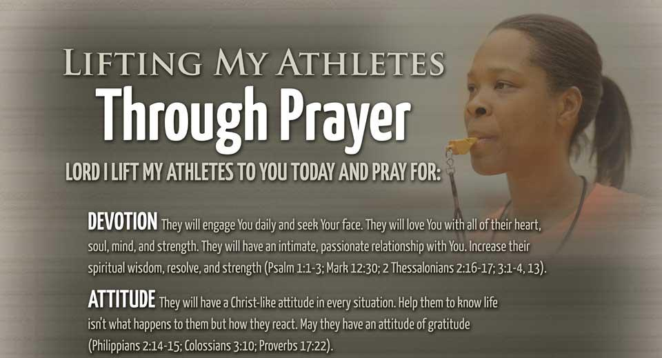 Lifting Up My Athletes Prayer Poster